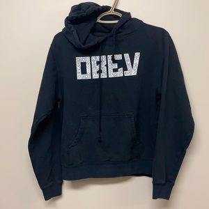 OBEY black hoodie with logo at front